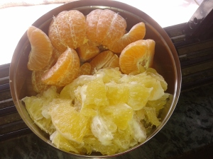 act2create: Oranges and Sweet Lime for my morning snack
